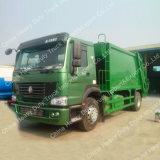Carro del compresor de la basura de Sinotruk HOWO 4X2 266HP 12cbm