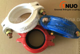 Ductile standard Iron Blue/White Water Rigid Grooved Coupling con FM/UL