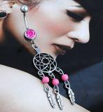 Juwelen van de Manier van de Ring van de Navel van de escapist de Turkooise Doordringende