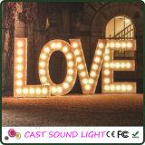 Indicatore luminoso di cerimonia nuziale del segno della lettera di amore del LED/cerimonia nuziale operata della decorazione