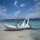 Barco inflável da velocidade do barco do reforço de Liya 20ft China para a venda
