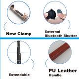 Cuoio di alluminio dell'unità di elaborazione del bastone di Bluetooth Selfie di modo con il kit dell'otturatore