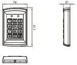 Pickproof Design Metal Access Control
