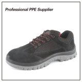 黒いPUの注入の鋼鉄つま先のブランドの安全靴