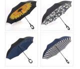 Parapluie droit renversé manuel de véhicules de traitement de forme de C