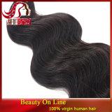 do Virgin não processado macio da extensão 3PCS do cabelo humano da onda do corpo do cabelo do Virgin 7abrazilian Weave brasileiro do cabelo humano do pacote do Weave do cabelo