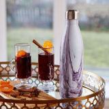 Oleaje botella de agua de la botella de acero inoxidable