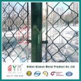 PVC 고품질을%s 가진 입히는 체인 연결 담 또는 직류 전기를 통한 체인 연결 담 공장