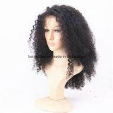 Pelucas delanteras rizadas del pelo humano del cordón del Afro corto sin procesar rizado