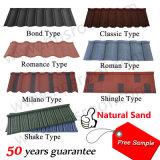 Tuile de toit enduite galvanisée en métal de toit de matériau de construction de fabrication de pierre en acier de feuille