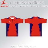 Healong Cheap Custom Sublimation Team Sports Polo Shirt Homem