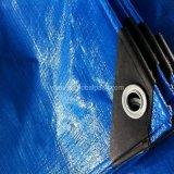 Blaues silbernes HDPE beschichtete wasserdichten Heu-Plane-Deckel