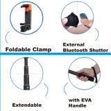 Bluetooth 셔터 Selfie 먼 지팡이를 가진 알루미늄 소형 Selfie 지팡이 장비
