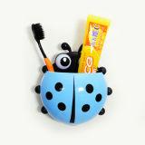 Симпатичный держатель зубной щетки всасывания стены Ladybug