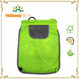 Form Flue Green 210d Polyester Drawstring Backpack