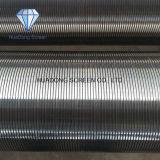 Diámetro bajo del acero inoxidable y cartucho de filtro Vee del alambre de la ranura para la filtración de las industrias