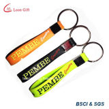다채로운 Matte Metal 및 Ribbon Key Holder Blank Key Chain