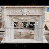 Camino bianco Mfp-1026 di Carrara del camino del camino di pietra del camino di marmo del granito