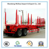China Semi Aanhangwagen van het Bed van 60 Ton de Lage voor Houten Vervoer