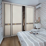 Leather Sliding Door를 가진 주문을 받아서 만들어진 Phywood Wardrobes