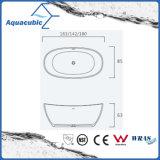 목욕탕 타원형 단단한 지상 독립 구조로 서있는 욕조 (AB6568)