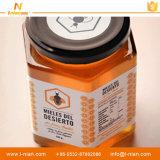 Подгонянный напечатанный водоустойчивый пластичный ярлык бутылки меда
