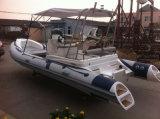 Nave di soccorso delle barche della Cina Liya 20FT FRP con la barca della nervatura di Hypalon di vendita del motore esterno