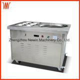 1 machine plate ronde de crême glacée de friture de Stir de réservoirs de Pan+ 6