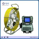 cámara video del examen del dren de la tubería de la inclinación de la cacerola del cable de la fibra de vidrio del empujador el 120m de 9m m con el contador V8-3288PT-1 del contador