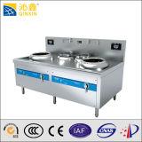LED表示が付いているステンレス鋼の倍バーナーの誘導の中華なべの炊事道具