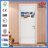 Дверь PVC конструкции 4 ручек панели деревянная пластичная (JHK-P14)