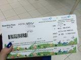 Jps-320zd het Inschepen van de Luchtvaartlijn Kaartje, Instapkaart, de Scherpe Omslag van de Perforatie van de Instapkaart