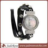 Вахта сплава, Wristwatch кварца браслетов женщин способа кожаный
