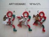 Decoração do feriado da chapa da parede do cumprimento do Natal