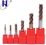 Moinho de extremidade contínuo das flautas do carboneto 4 da manufatura HRC55 de China