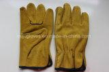 Handschoen van het Lassen van het Leer van 10.5 Duim de Gele Werkende met Ce