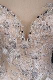 Applique вышивки v задний отбортовывает платье венчания шарика Bridal
