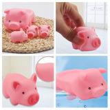 Игрушка ванны младенца свиньи мягкого винила миниая розовая