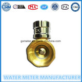 Válvulas de cobre amarillo del contador del agua de la puerta de la bola