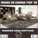 Sofá de cuero 2217 de Geniune del estilo moderno europeo de lujo del diseño