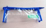Boîte à crayons en PVC réutilisable en PVC à base de fermeture à glissière en nylon sur le dessus (YJ-K016)
