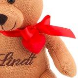 Kintted는 리본을%s 가진 곰 장난감을 채웠다