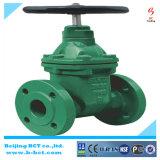 DIN estándar de fundición de hierro no ascendente válvula de compuerta