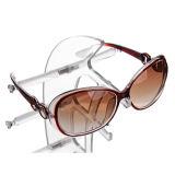 Kundenspezifische Form-Segel-Geformte Acrylsonnenbrille-Bildschirmanzeige-Zahnstange