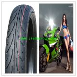 A motocicleta monta pneus 90/80-17, 70/80-17, 80/80-17, 360-18, etc.