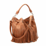Trending Bucket Drawstring Fringe Shoulder Bag (MBNO040059)