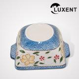 Передвижной керамической поднос выпечки булочки кухни покрашенный рукой