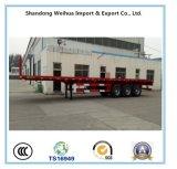 Árbol 3 de los 20FT/de los 40FT del envase del plano acoplado semi de la fábrica de China