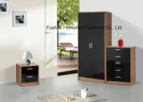 3 Piece High Gloss Bedroom Wardrobe Closet Set