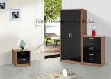 3 Stück-hohes Glanz-Schlafzimmer-Garderoben-Wandschrank-Set